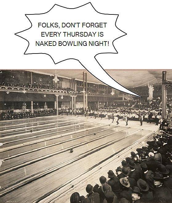 One Panel Cartoon - Naked Bowling Night 5035813948