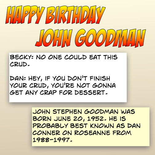 happy birthday - john goodman - eat this crud