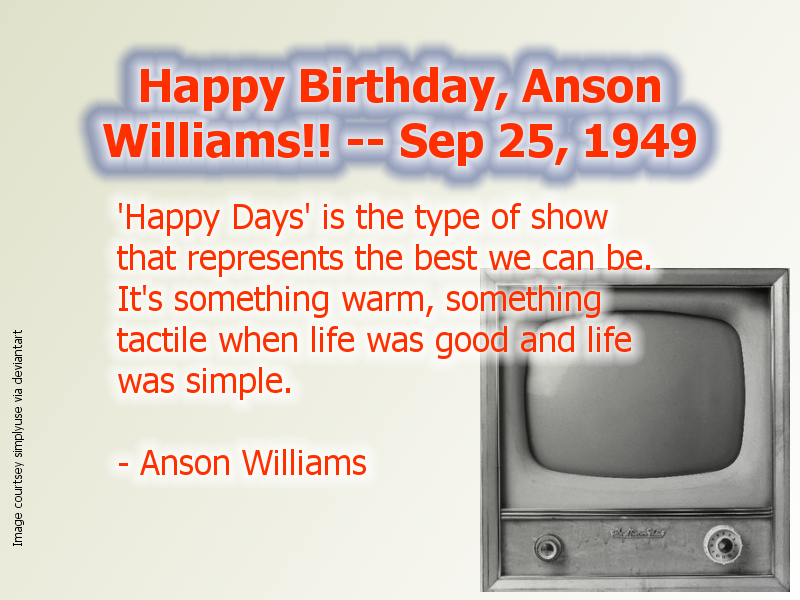 Anson Williams Birthday -- 09-25