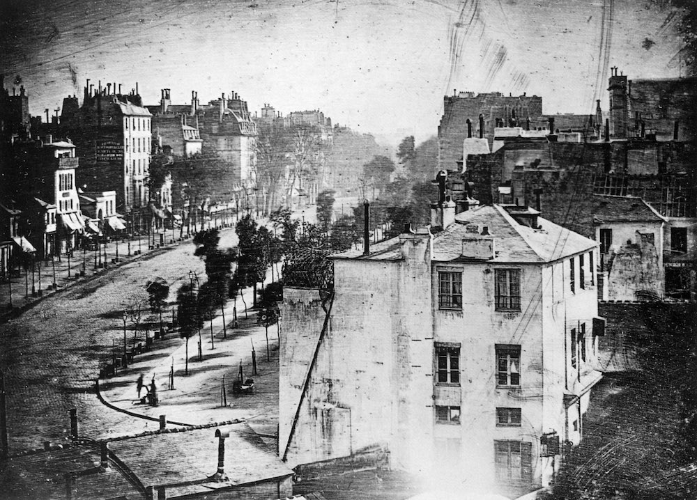 First photograph of a human being 1838 - Louis Daguerre
