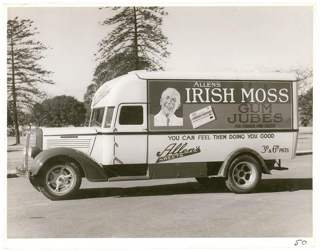 Allen's Irish Moss gum jubes delivery van  WA Webber_5473119976_l