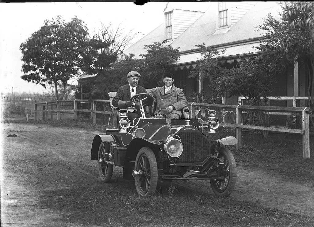 Humber car, Shoalhaven, ca 1906  photographer Cyrus S Moss_6456363101_l