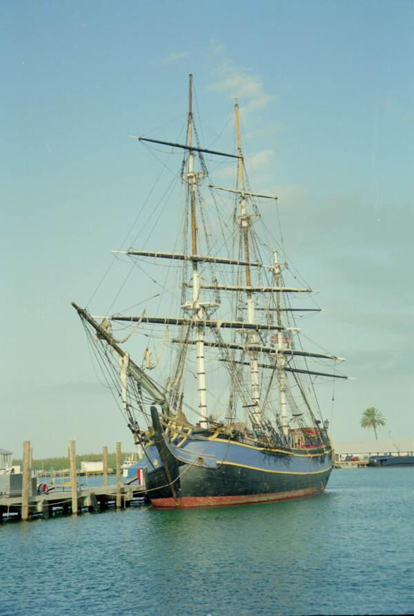 Replica of the HMS Bounty docked at Key West Bight_8431786681_l