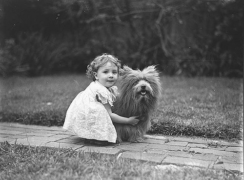 Study of a small girl with a prize Scottish terrier_3211639268_m