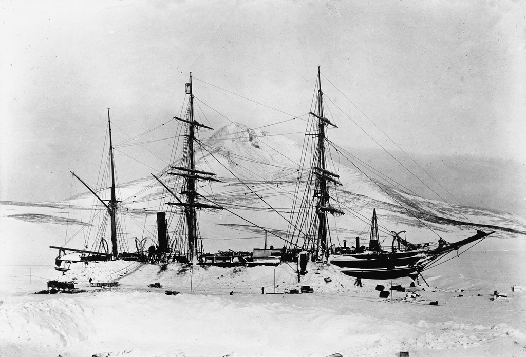 The ship Discovery, Antarctica, 1901_4078337883_l