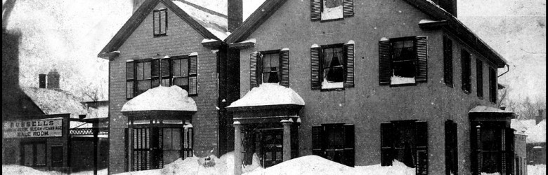 House in Snow During Winter - Credit Keene Public Library