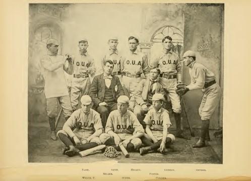 Ohio University First Baseball Team - 1892