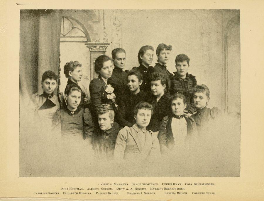 Pi Beta Phi Sorority at Ohio University- 1892 Yearbook Photo