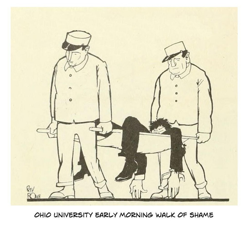 ohio university walk of shame