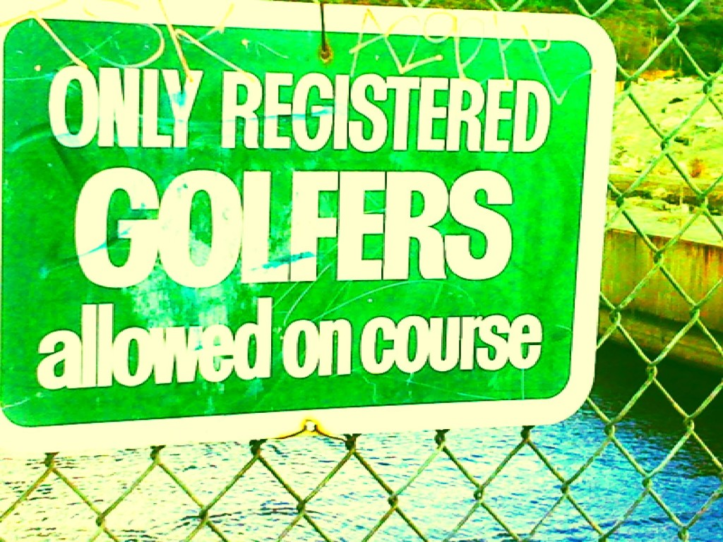 065-only registered golfers sign golf