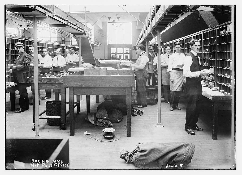 6035100117_fd7d2ee6fc_o-ny post office - 1910 - mail - work - letter ...