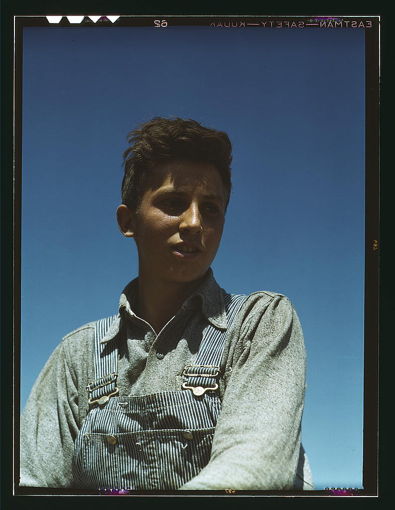LOC - 1930s -1940s - Portrait of a farm boy (LOC) 2179131521