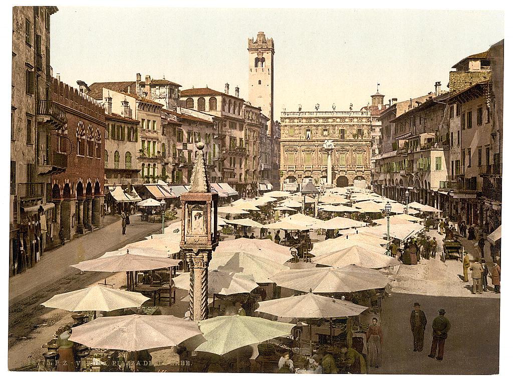 LOC - travel - Piazza delle Erbe, Verona, [Italy] (LOC) 4754547947