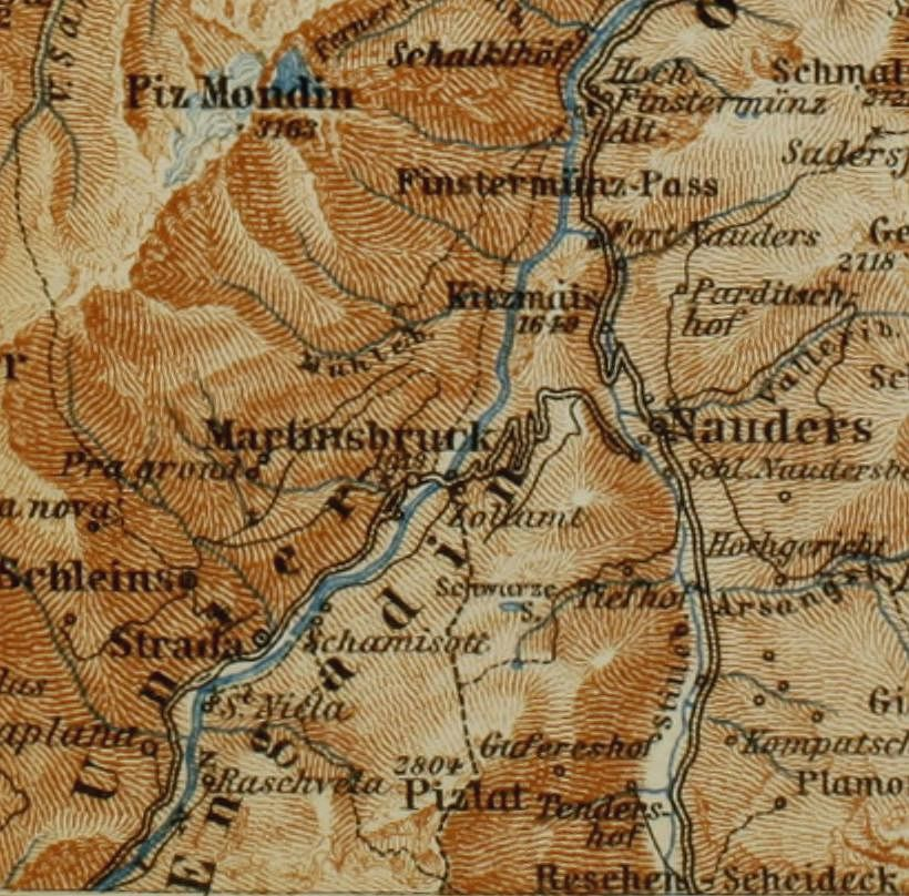 the eastern alps-map-book-internet archive-Image from page 308 of The eastern Alps including the Bavarian highlands, Tyrol, Salzkammergut, Sty 14779992111