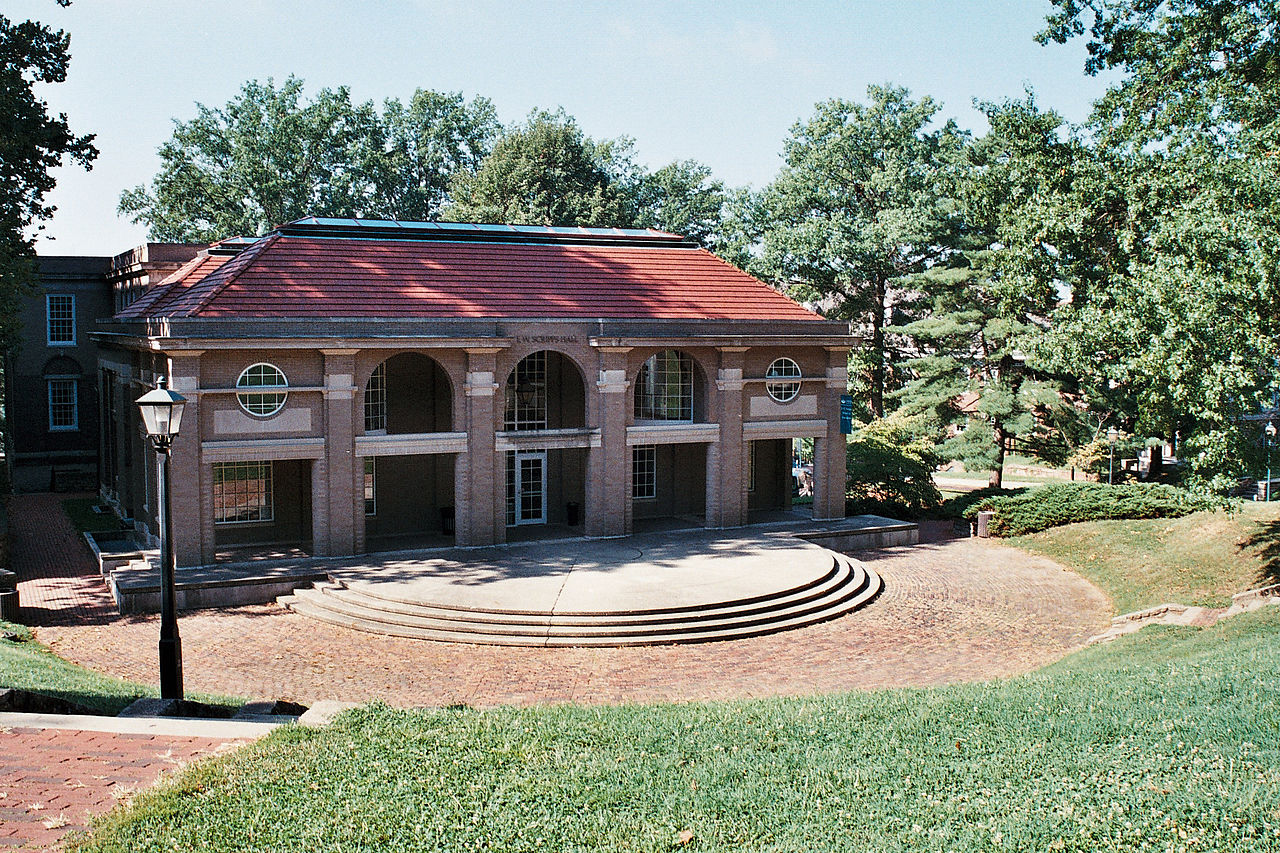 Back of Scripps Hall at Ohio University - Courtesy Rhilex via Wikimedia Commons