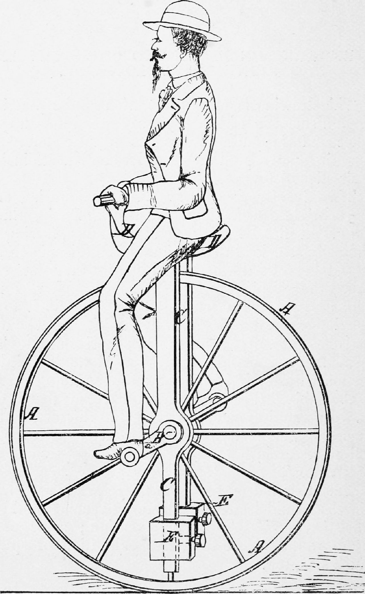 sports-cycling-Image from page 236 of Cycling art-- 14577911869-unicycle