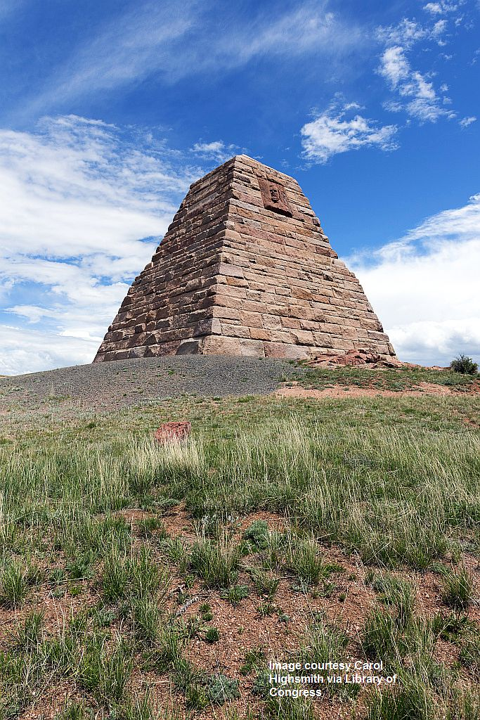 proc-001_The Ames Monument, erected in 1880 in a desolate stretch of rural Albany County, Wyoming