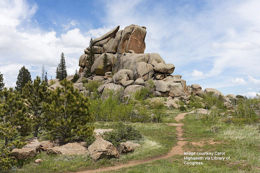 proc-003_Vedauwoo Turtle Rock, a towering pile of weathered Sherman Granite that is the cornerstone of a 3.2-